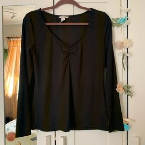H&M / Gathered Chest Long Sleeve
